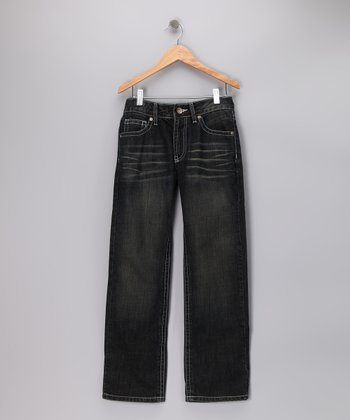 Light Blue Benston Straight-Leg Jeans