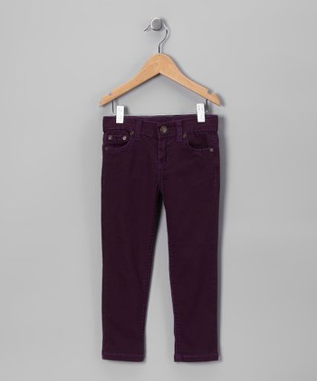 Plum Skinny Jeans - Toddler