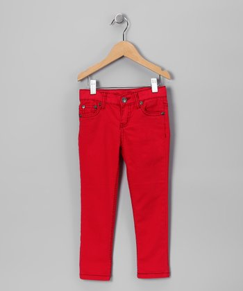 Red Skinny Jeans - Toddler