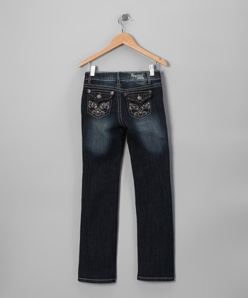 Dark Wash Martine Straight-Leg Jeans - Toddler