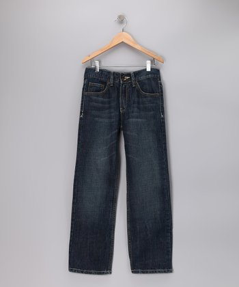 Light Blue Delancy Straight-Leg Jeans - Boys