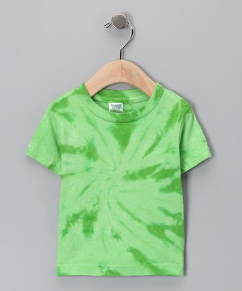 Lime Spider Tie-Dye Tee - Infant