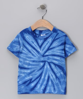 Royal Blue Spider Tie-Dye Tee - Infant