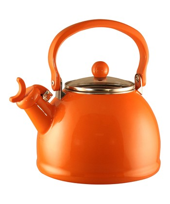 Orange 2.2-Qt. Whistling Teakettle