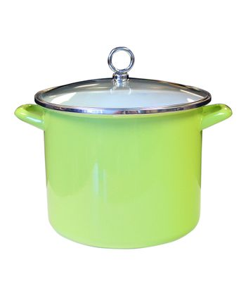 Lime Enameled Steel 8-Qt. Stockpot