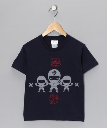 Blue & Red Three Ninjas Tee - Toddler