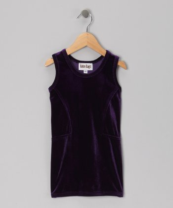Purple Velvet Shift Dress - Toddler & Girls