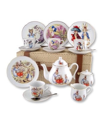 Large Beatrix Potter 20-Piece Tea Set