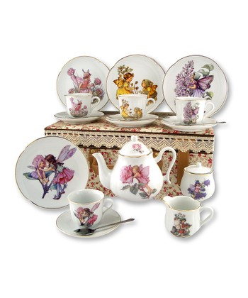 Large Flower Fairies 20-Piece Tea Set