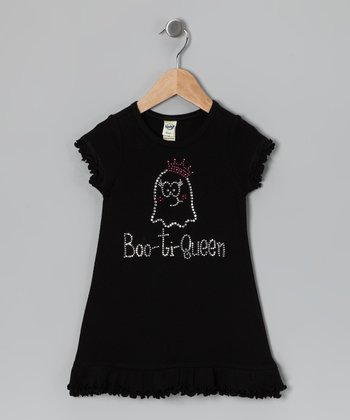 Black 'Boo-ti Queen' Dress - Toddler & Girls