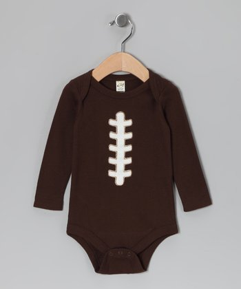 Brown Football Bodysuit - Infant