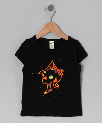 Black & Orange Barbie Tee - Infant, Toddler & Girls