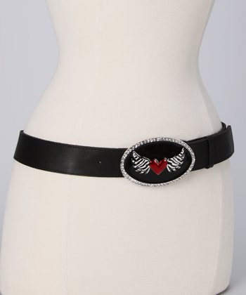 Black Winged Heart Belt