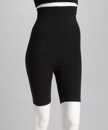 Black High-Waisted Longline Shaper Shorts - Women & Plus