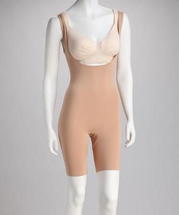 Nude Seamless Under-Bust Shaper Bodysuit - Women & Plus