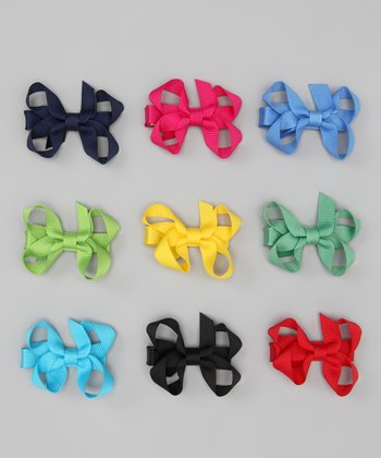 Bright Small Bow Clip Set