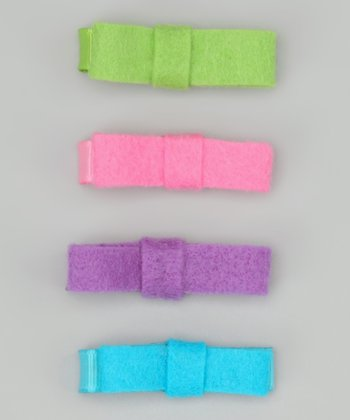 Ribbies Clippies Purple & Blue Mini Bow Clip Set