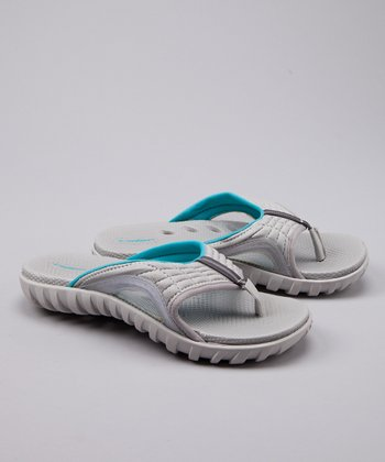 Gray & Blue Dry IV Flip-Flop - Women