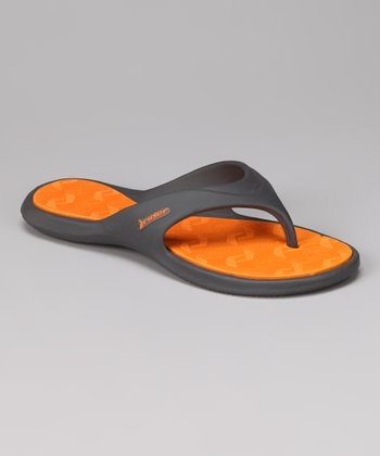 Gray & Orange Island III Flip-Flop - Women