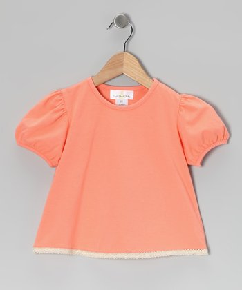 Pink Puff-Sleeve Tee - Infant