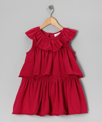 Fuchsia Triple-Tier Dress - Infant