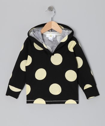 Black & White Polka Dot Hoodie - Infant