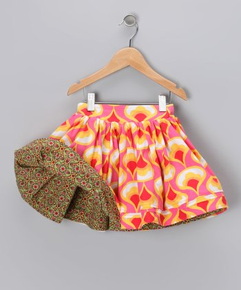 Yellow & Green Reversible Swing Skirt - Infant, Toddler & Girls