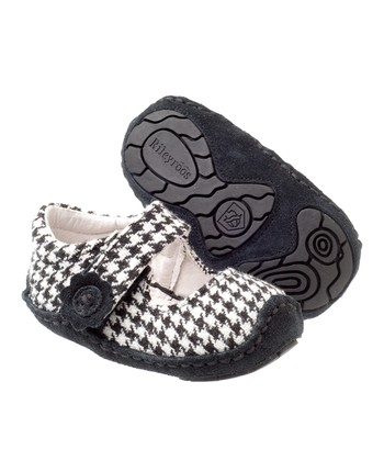 White & Black Houndstooth Mary Jane