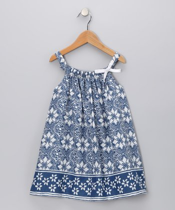 Blue Daisy Sundress - Infant, Toddler & Girls