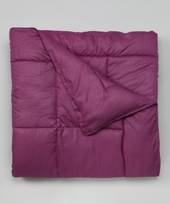 Purple Embossed Microfiber Comforter