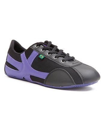 Black & Purple Roxy Sneaker - Women