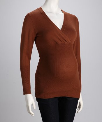 Gingerbread Maternity & Nursing Surplice Sweater