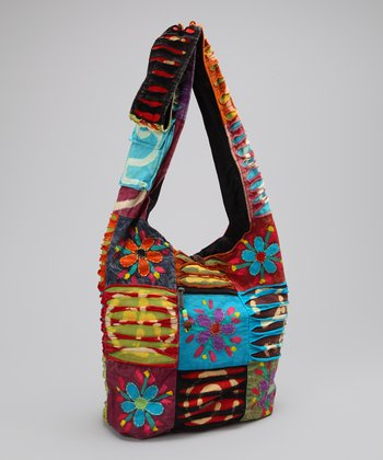 Blue & Red Peace Tote