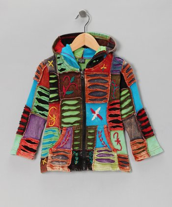 Cool Rainbow Zip-Up Hoodie - Toddler & Girls