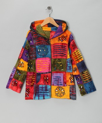 Rainbow Patch Zip-Up Hoodie - Toddler & Girls