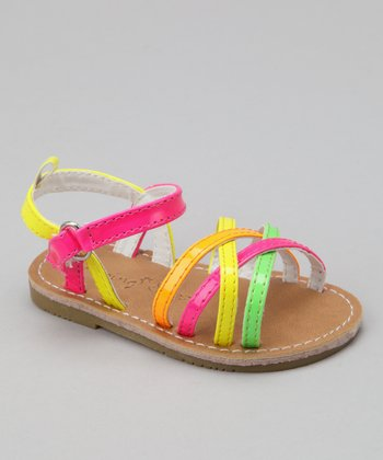 Pink & Yellow Sandal