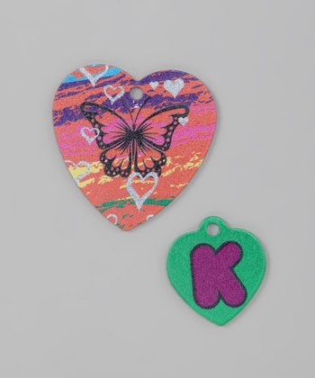 Ritzy Orange Butterfly & Letter Tag Set