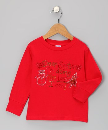 Red 'Dear Santa' Tee - Toddler & Girls
