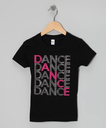 Black 'Dance' Tee - Toddler & Girls