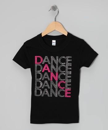 Black 'Dance' Tee - Toddler & Girls