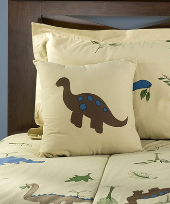 Tan Dinosaur Quilt Set