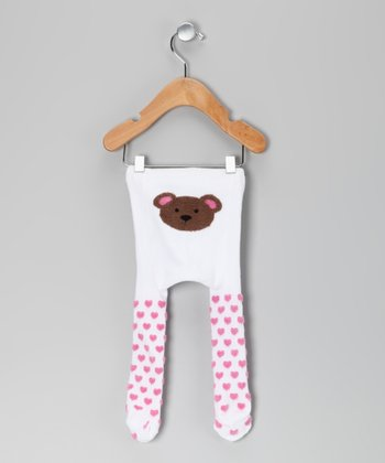 White Heart Little Bear Tights
