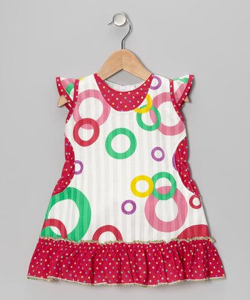 Red Circle A-Line Dress - Girls