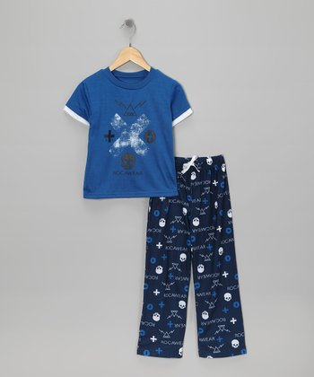 Blue Electric Pajama Set - Boys