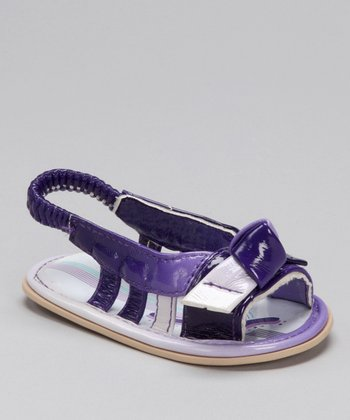 Purple Knotted Sandal