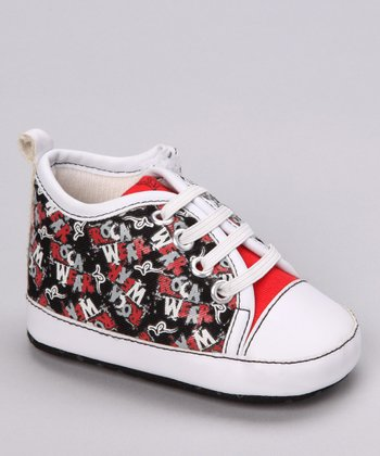 Black & Red Graffiti Sneaker