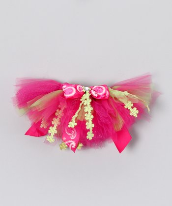 Lime & Hot Pink Lauren Doll Tutu