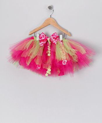 Lime & Hot Pink Lauren Tutu - Toddler & Girls