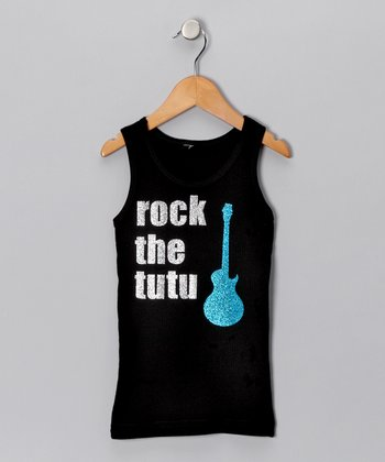 Black & Blue 'Rock the Tutu' Tank - Toddler & Girls