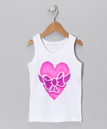 White All Wrapped Up Tank - Toddler & Girls